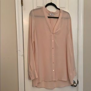 NWOT Vince pink blouse Medium